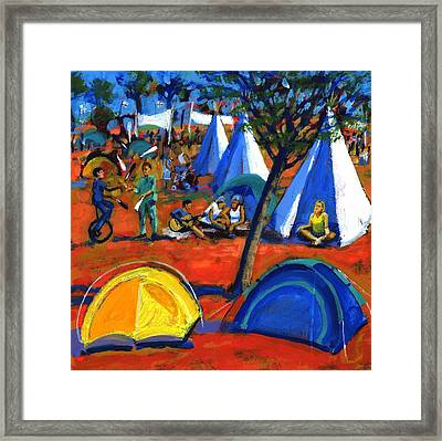 Pop Festival Framed Print