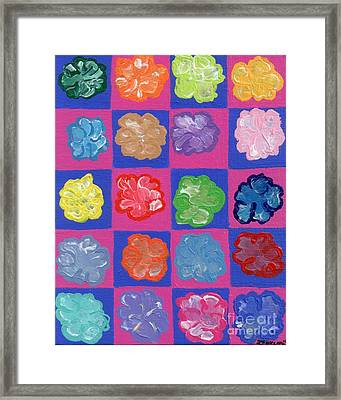 Pop Flowers Framed Print by Melissa Vijay Bharwani