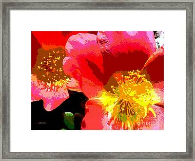 Framed Print featuring the photograph Pop Goes The Poppy by Sally Simon