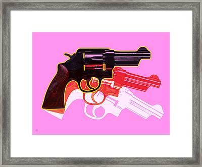 Pop Handgun Framed Print
