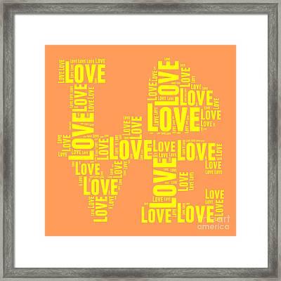 Pop Love 3 Framed Print