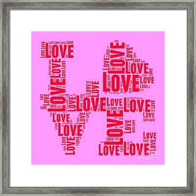 Pop Love 4 Framed Print