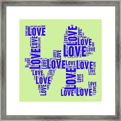 Pop Love 5 Framed Print