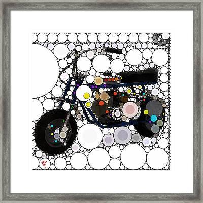 Pop Mini Bike Framed Print by Russell Pierce