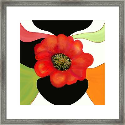 Pop Poppy Framed Print