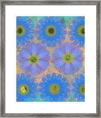 Pop Spiral Floral 7 Framed Print by Ricki Mountain