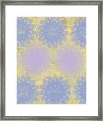 Pop Spiral Floral IIi  Framed Print by Ricki Mountain