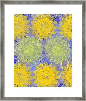 Pop Spiral Floral Iv  Framed Print by Ricki Mountain