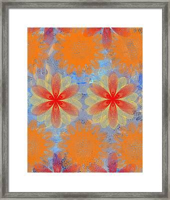 Pop Spiral Floral V  Framed Print by Ricki Mountain