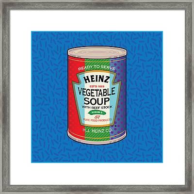 Pop Vegetable Soup Framed Print