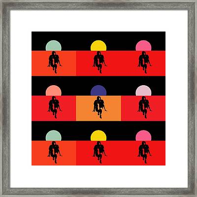 Popart Fantasy Guy Floating  Framed Print