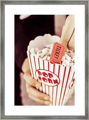 Popcorn Box Office Framed Print
