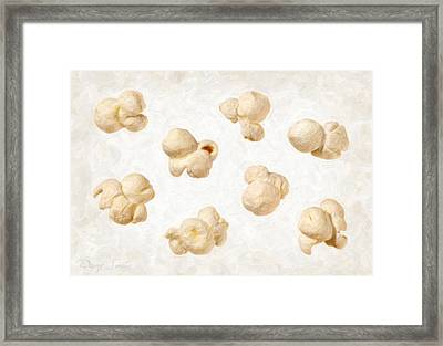 Popcorn Framed Print by Danny Smythe