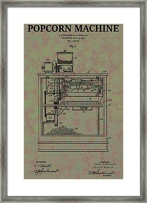 Popcorn Machine Patent Framed Print by Dan Sproul