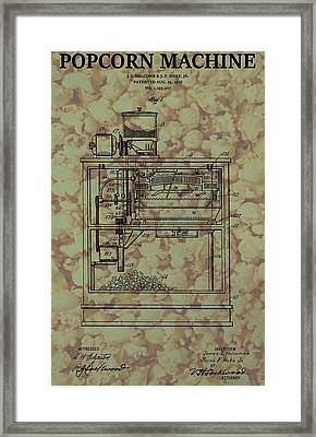 Popcorn Machine Poster Framed Print by Dan Sproul