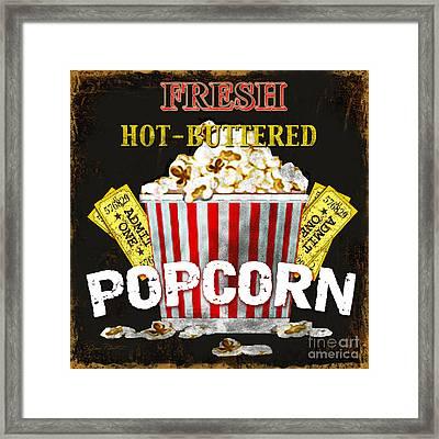 Popcorn Please Framed Print by Jean Plout