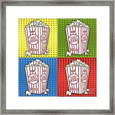 Popcorn Pop Art-jp2375 Framed Print