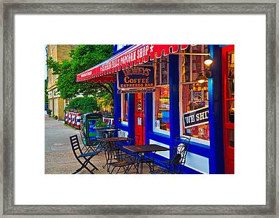 Popcorn Shop Framed Print