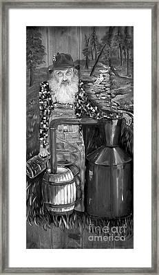 Popcorn Sutton - Black And White - Legendary Framed Print