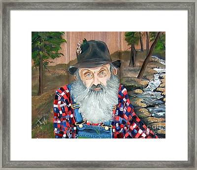 Popcorn Sutton - Moonshine Legend - Landscape View Framed Print