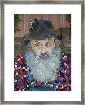 Popcorn Sutton - Moonshiner - Portrait Framed Print