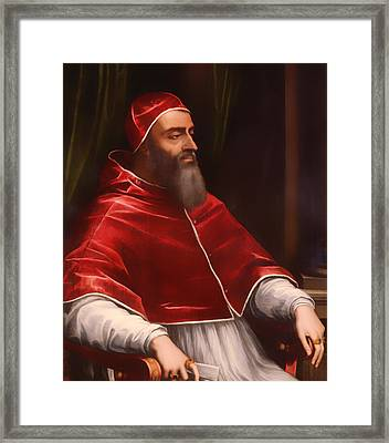 Pope Clement Vii Framed Print by Mountain Dreams