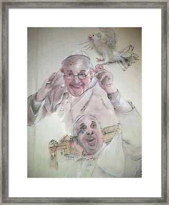 Pope Francis Album Framed Print