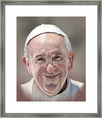 Pope Francis Framed Print by Arie Van der Wijst