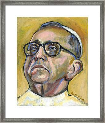 Pope Francis Framed Print by Buffalo Bonker
