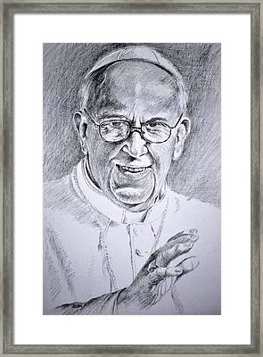 Pope Franciscus Framed Print