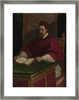 Pope Gregory Xv Guercino Giovanni Francesco Barbieri Framed Print by Litz Collection