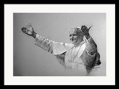 Catholic Drawings Framed Prints