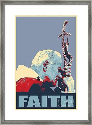 Pope John Paul II Framed Print by Jean luc Comperat