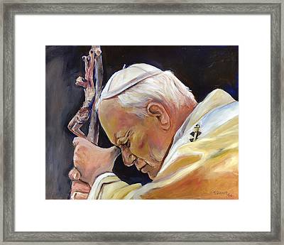 Pope John Paul II Framed Print by Sheila Diemert