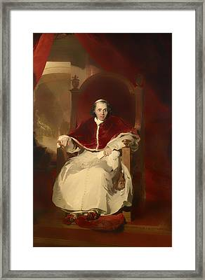 Pope Pius Vii Framed Print by Mountain Dreams