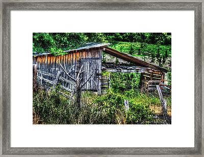Farm - Barn - Pope - Water Valley Barn Framed Print by Barry Jones