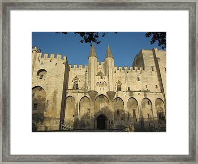 Popes Palace In Avignon Framed Print by Pema Hou