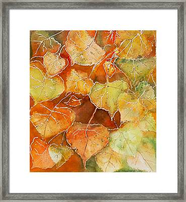 Poplar Leaves Framed Print by Susan Crossman Buscho