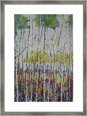 Poplars In Fall Framed Print