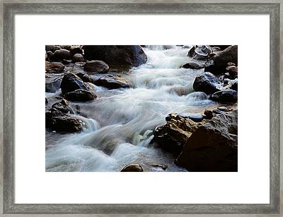 Popo Agie Flow Framed Print