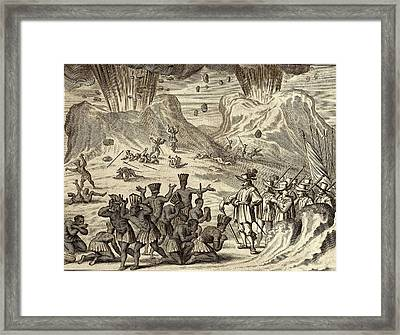 Popocatepetl And Aztec Conquest Framed Print