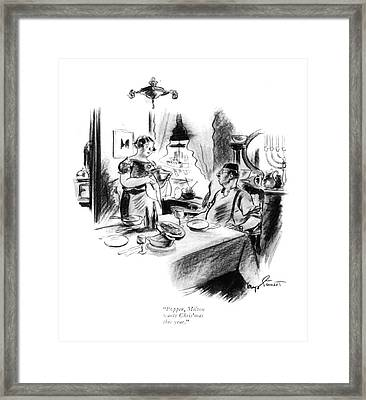 Popper, Milton Wants Chris'mas This Year Framed Print