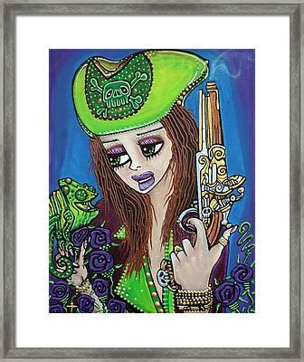 Poppet Pirate At Chameleon Cove Framed Print