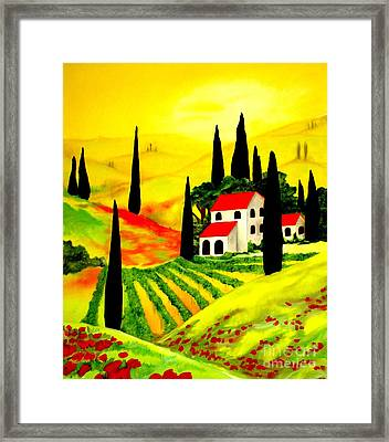 Framed Print featuring the painting Poppi by Amy Sorrell