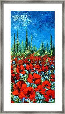 Poppie Field Framed Print