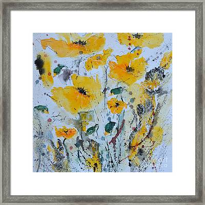 Poppies 03 Framed Print by Ismeta Gruenwald