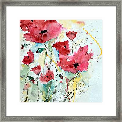 Poppies 05 Framed Print by Ismeta Gruenwald