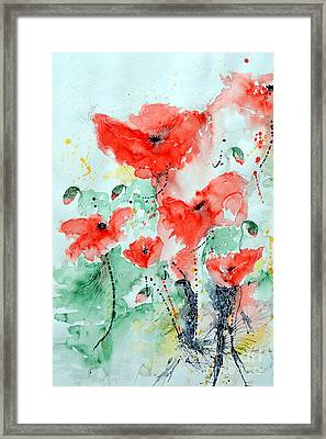 Poppies 06 Framed Print by Ismeta Gruenwald