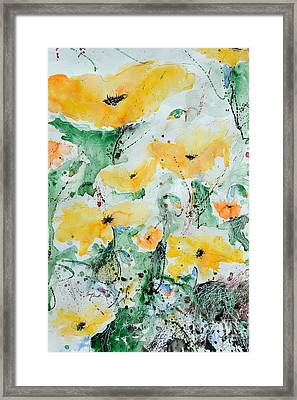 Poppies 07 Framed Print by Ismeta Gruenwald