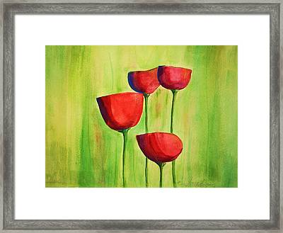 Poppies 4 Framed Print